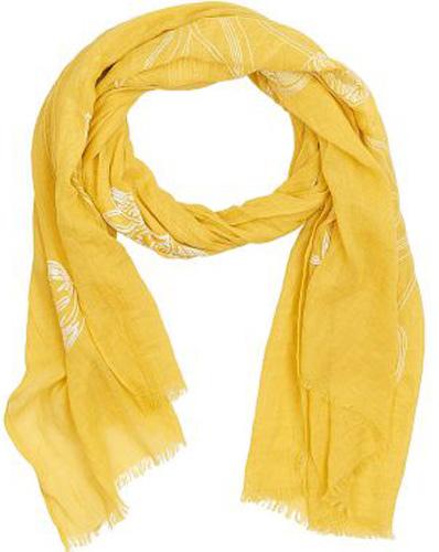 Палантин женский Vitta pelle, цвет: желтый. Ro04PC3668/20. Размер 90 см х 180 смRo04PC3668/20Палантин женский Vitta pelle выполнен из качественного материала. Модель оформлена оригинальным принтом.
