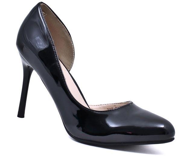 Туфли женские Camidy, цвет: черный. 706-21. Размер 35706-21Модные туфли от Camidy очаруют вас с первого взгляда.Модель выполнена из искусственной лаковой кожи. Зауженный носок смотрится стильно. Кожаная стелька обеспечивает комфорт при движении. Высокий каблук-шпилька устойчив.Роскошные туфли - необходимая вещь в гардеробе каждой женщины.