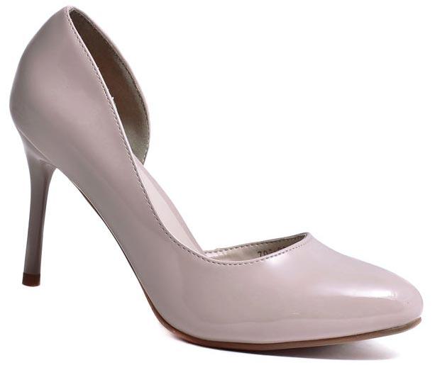 Туфли женские Camidy, цвет: бежевый. 706-23. Размер 39706-23Модные туфли от Camidy очаруют вас с первого взгляда.Модель выполнена из искусственной лаковой кожи. Зауженный носок смотрится стильно. Кожаная стелька обеспечивает комфорт при движении. Высокий каблук-шпилька устойчив.Роскошные туфли - необходимая вещь в гардеробе каждой женщины.