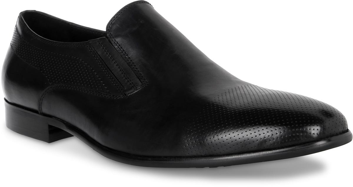 Туфли мужские El Tempo, цвет: черный. CRS62_138-2-502. Размер 45CRS62_138-2-502_BLACKЭлегантные мужские туфли от El Tempo покорят вас своим удобством. Модель выполнена из высококачественной натуральной кожи. Эластичные резинки, расположенные на подъеме, надежно фиксируют обувь на ноге. Стелька и подкладка из натуральной кожи позволяют ногам дышать. Рифление на подошве обеспечивает отличное сцепление с различными поверхностями.Стильные туфли прекрасно впишутся в ваш гардероб.
