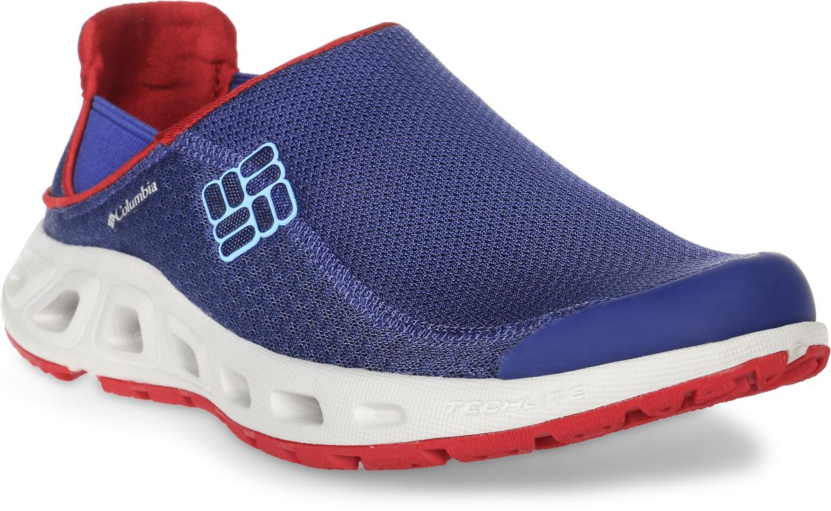Кроссовки женские Columbia Ventslip II, цвет: синий. 1620001-508. Размер 9 (40,5)1620001-508Стильные кроссовки Ventslip II от Columbia - прекрасно подойдут для активного отдыха.. Модель изготовлена из полиэстера и декорирована вставкой из синтетической кожи на носке. Боковая сторона изделия украшена названием и логотипом бренда, задник - логотипом бренда. Воздухопроницаемая сетка верха и вентиляционные отверстия в подошве образуют воздушный поток и обеспечивают дренаж. Стрейчевые вставки по бокам обеспечивают оптимальную посадку модели на ноге.Стелька из легкого ЭВА с перфорацией позволяет ногам дышать. Подошва с рифленым протектором защищает изделия от скольжения. Резина Omni-Grip, используемая в материале подметки, разработана специально для ходьбы по пересеченной местности.Кроссовки Ventslip II от Columbia - правильный выбор активных женщин!