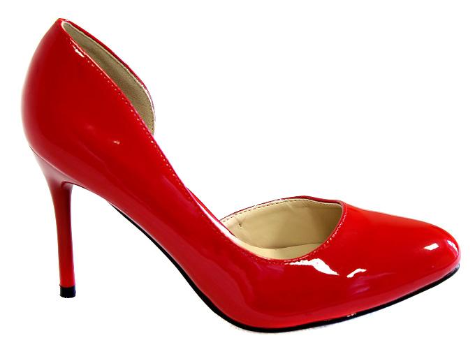 Туфли женские Camidy, цвет: красный. 706-24. Размер 39706-24Модные туфли от Camidy очаруют вас с первого взгляда.Модель выполнена из искусственной лаковой кожи. Зауженный носок смотрится стильно. Кожаная стелька обеспечивает комфорт при движении. Высокий каблук-шпилька устойчив.Роскошные туфли - необходимая вещь в гардеробе каждой женщины.