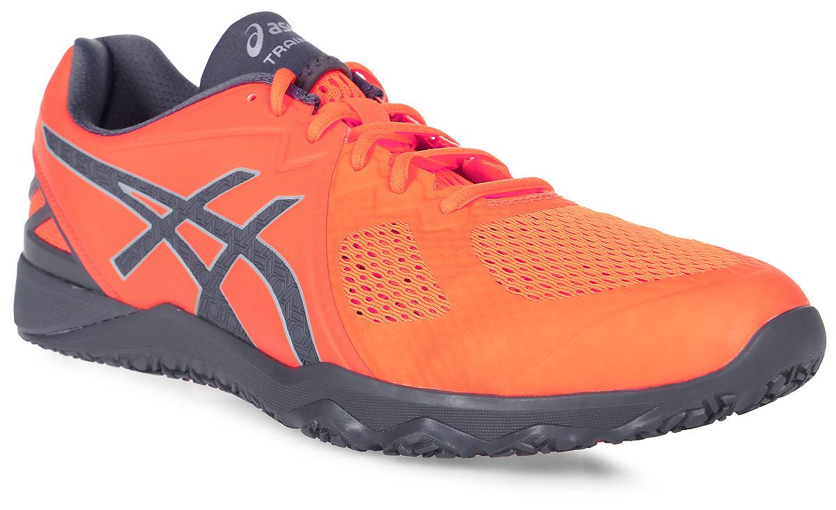 Кроссовки для фитнеса мужские Asics Conviction X, цвет: оранжевый. S703N-3097. Размер 9 (41)S703N-3097Мужские кроссовки для фитнеса Asics Conviction X выполнены из дышащего текстиля со вставками из искусственной кожи. На ноге модель фиксирует шнуровка. Внутренняя поверхность и стелька изготовлены из текстиля. Подошва из комбинации EVA и резины оснащена рельерным рисунком.
