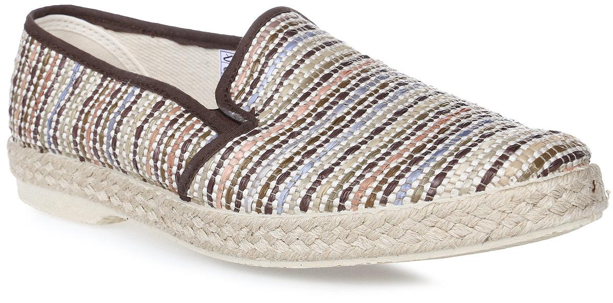 Эспадрильи мужские El Tempo, цвет: коричневый, бежевый. EJP2_900597_8. Размер 43EJP2_900597_8Стильные мужские эспадрильи от El Tempo займут достойное место в вашем гардеробе. Модель выполнена из плотного текстиля. Резинки, расположенные на подъеме, позволяют идеально посадить обувь на ноге. Верх подошвы выполнен из плетеной джутовой нити, низ - из резины. Рифление на подошве обеспечивает отличное сцепление с любыми поверхностями. Модные эспадрильи - незаменимая вещь в гардеробе каждого мужчины.