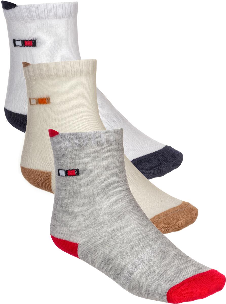 Носки детские Baykar, цвет: серый, бежевый, белый, 3 пары. 181712-22. Размер 3, 18-24 месяцев181712-22Детские носки Baykar изготовлены из высококачественного эластичного хлопка с добавлением полиамида. Укороченные носки имеют эластичную резинку, которая надежно фиксирует носки на ноге. В комплект входит 3 пары носков.