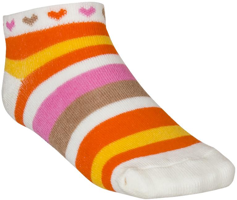 Носки для девочки Baykar, цвет: оранжевый, 3 пары. 185412-3. Размер 10,5/12, 6-12 месяцев185412-3Детские носки Baykar изготовлены из высококачественного эластичного хлопка с добавлением полиамида. Укороченные носки имеют эластичную резинку, которая надежно фиксирует носки на ноге. В комплект входит 3 пары носков.