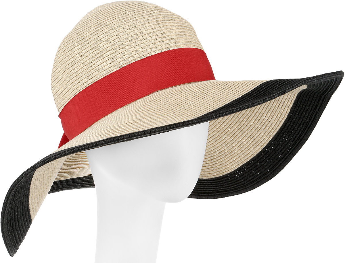 Шляпа женская Fabretti, цвет: бежевый. G39-3. Размер универсальныйG39-3 BEIGEСтильная шляпа от Fabretti для пляжного отдыха и прогулок в солнечные дни.
