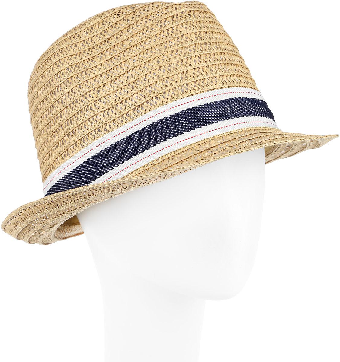 Шляпа женская Fabretti, цвет: бежевый. GL41-3. Размер универсальныйGL41-3 BEIGEСтильная шляпа от Fabretti для пляжного отдыха и прогулок в солнечные дни.