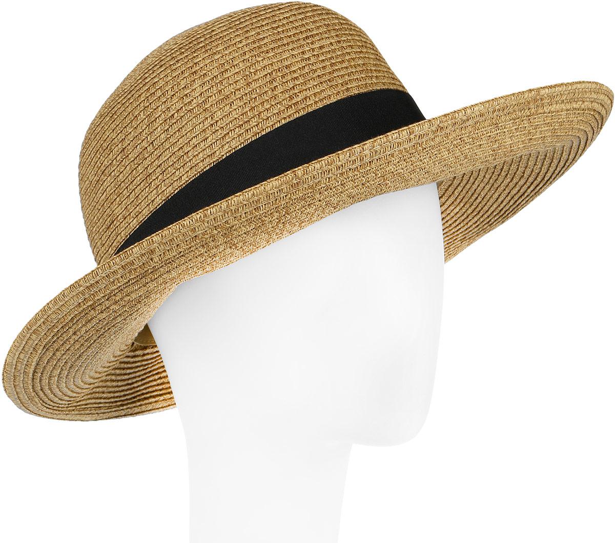 Шляпа женская Fabretti, цвет: бежевый. G4-1. Размер универсальныйG4-1 BEIGEСтильная шляпа от Fabretti для пляжного отдыха и прогулок в солнечные дни.