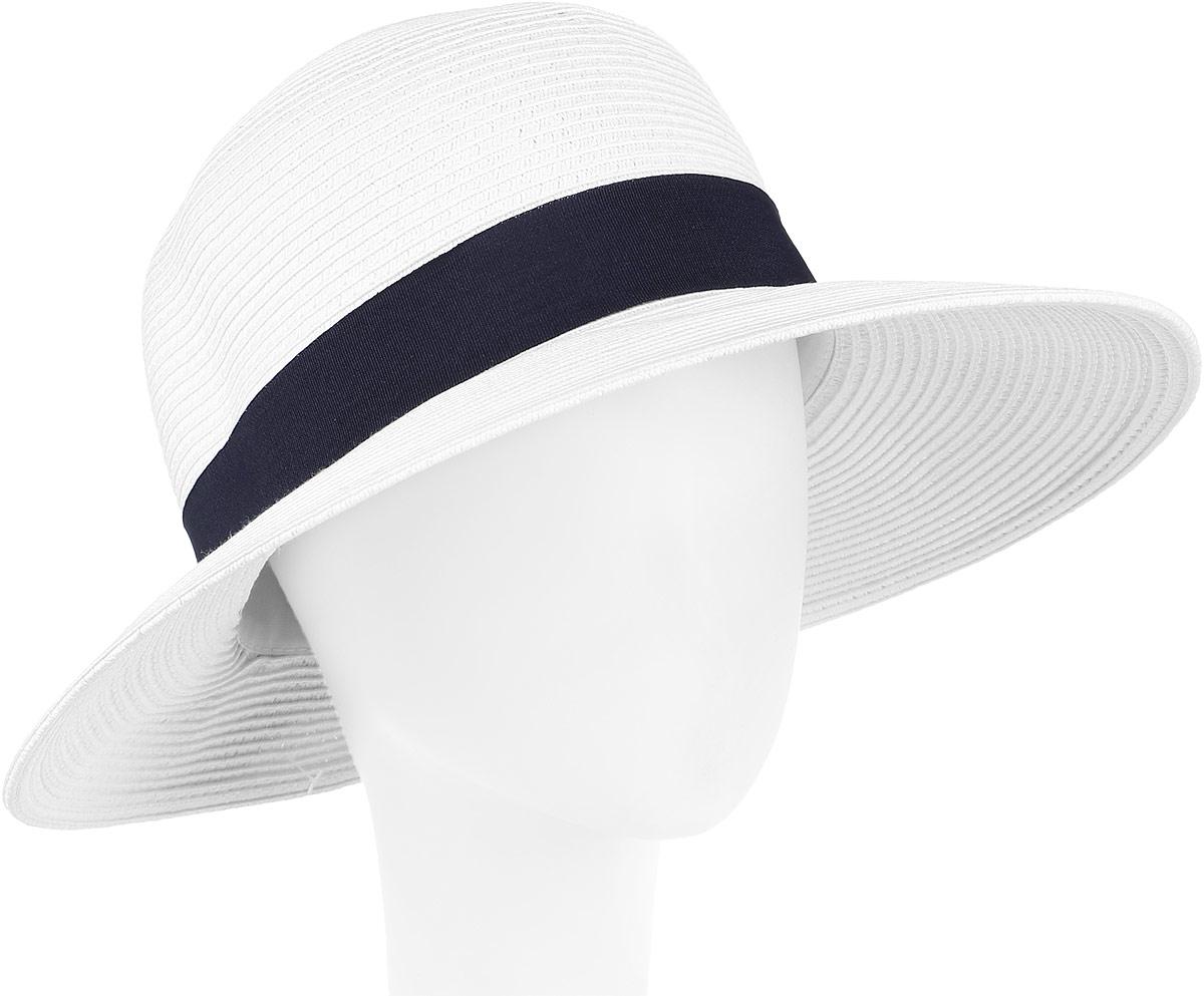 Шляпа женская Fabretti, цвет: белый. G4-4. Размер универсальныйG4-4 WHITEСтильная шляпа от Fabretti для пляжного отдыха и прогулок в солнечные дни.