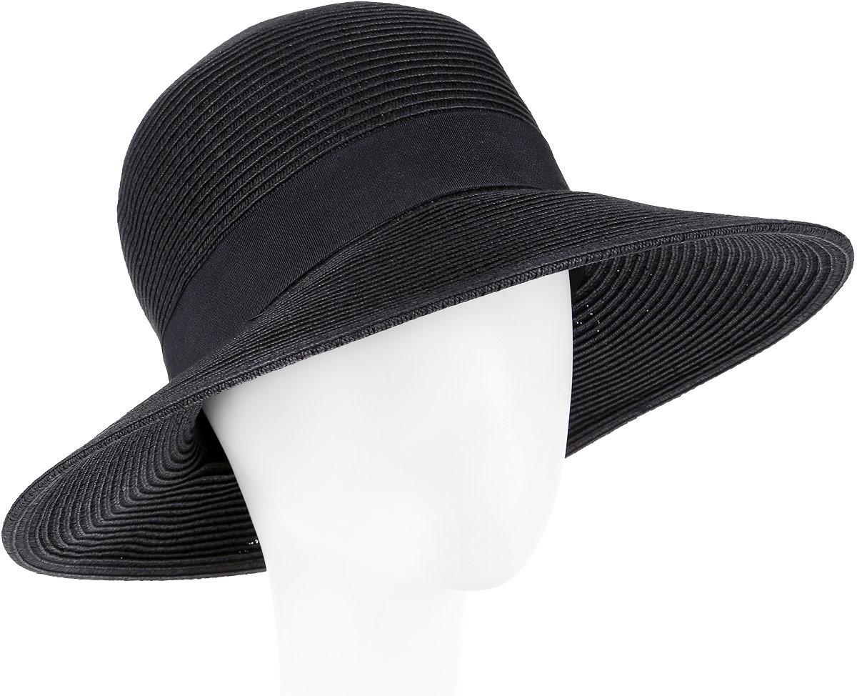 Шляпа женская Fabretti, цвет: черный. G4-2. Размер универсальныйG4-2 BLACKСтильная шляпа от Fabretti для пляжного отдыха и прогулок в солнечные дни.
