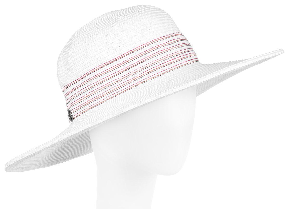 Шляпа женская R.Mountain Clara, цвет: белый. 77-096-17-56. Размер S/M (56)77-096-17-56Широкополая шляпа R.Mountain Clara украсит любой наряд.Шляпа оформлена небольшим металлическим логотипом фирмы прострочкой контрастного цвета на тулье. Благодаря своей форме, модель удобно садится по голове и подойдет к любому стилю. Изделие легко восстанавливает свою форму после сжатия.Такая шляпка подчеркнет вашу неповторимость и дополнит ваш повседневный образ.