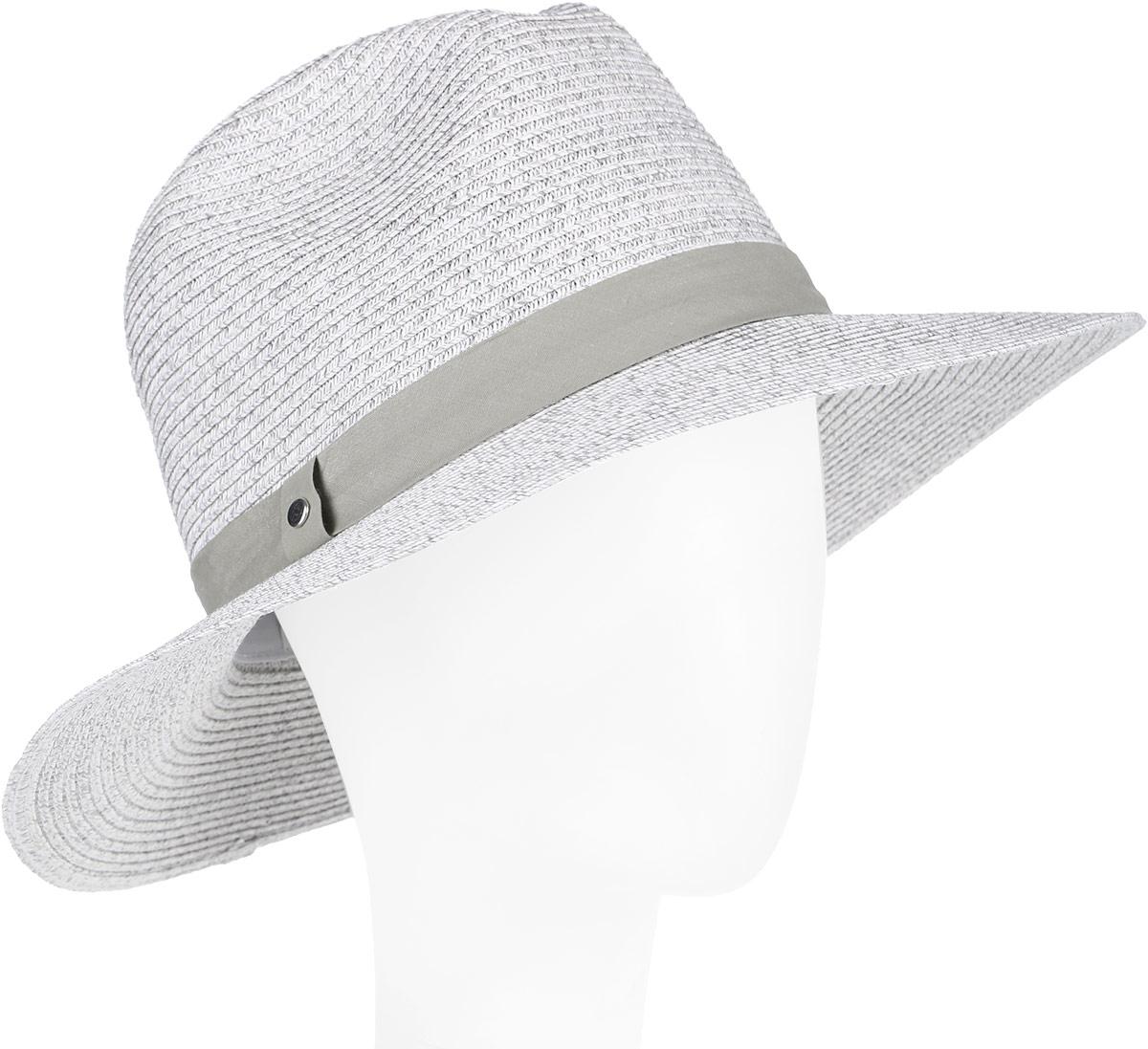 Шляпа женская Fabretti, цвет: серый. G36-9. Размер универсальныйG36-9 GREYСтильная шляпа от Fabretti для пляжного отдыха и прогулок в солнечные дни.