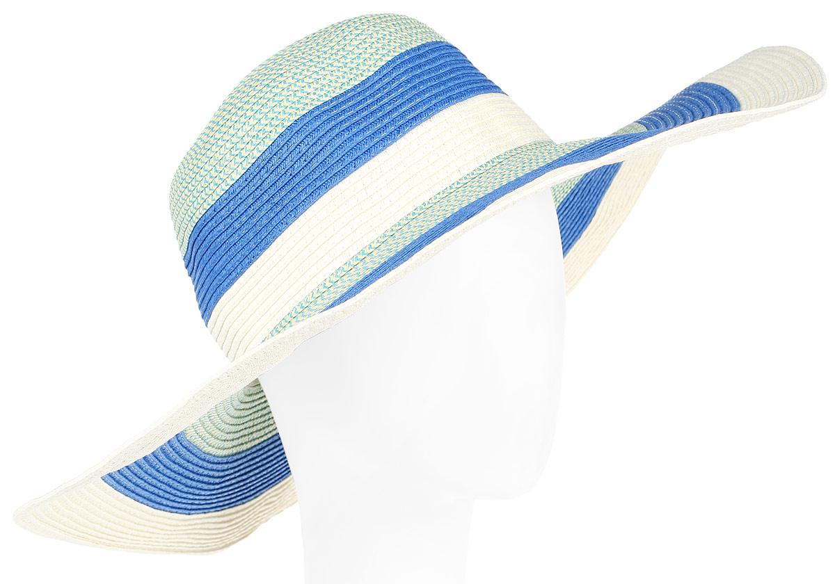 Шляпа женская Fabretti, цвет: мультиколор. GL-40. Размер универсальныйGL-40 MULTICOLORСтильная шляпа для пляжного отдыха и прогулок в солнечные дни.