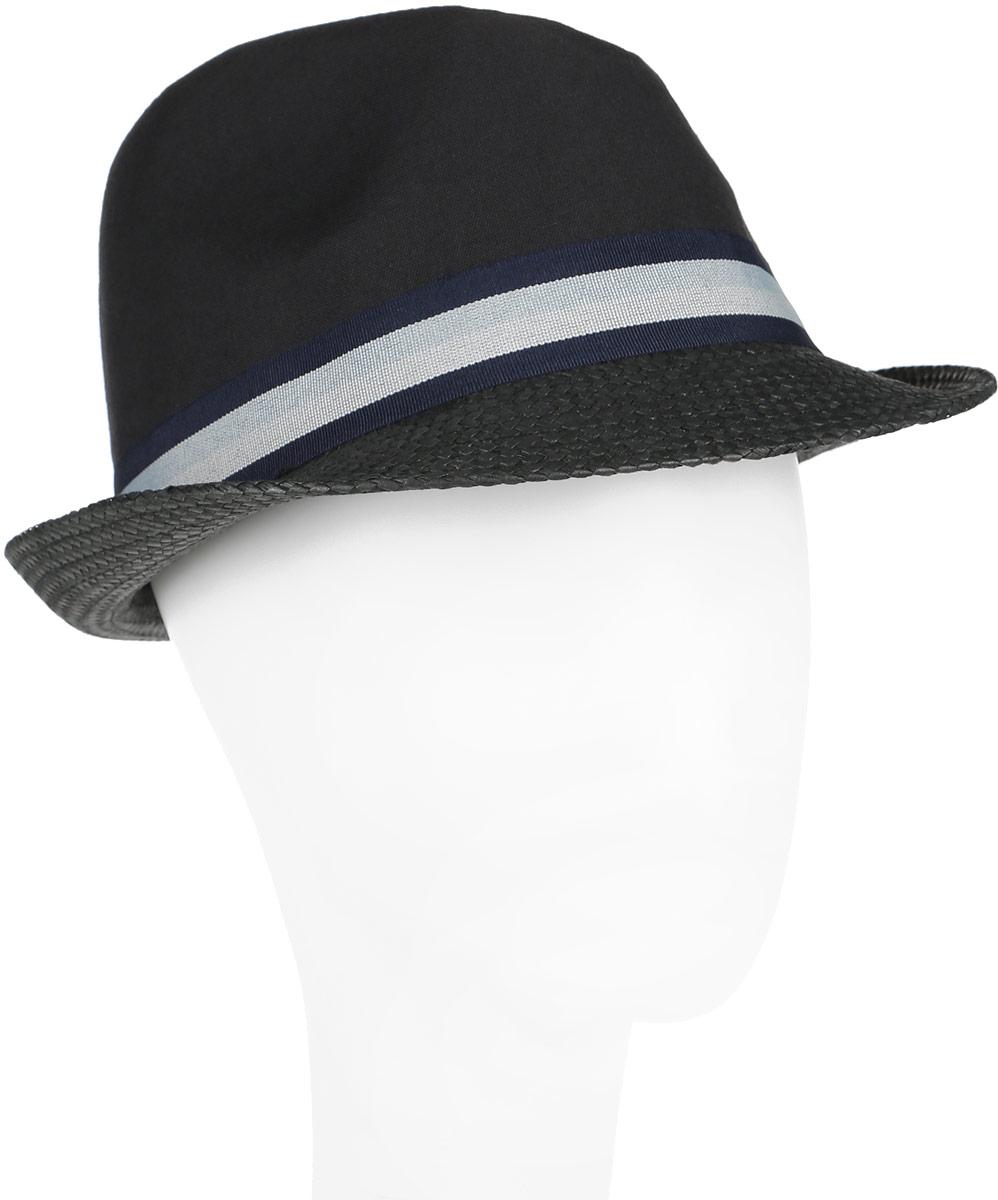 Шляпа мужская Canoe Haiti, цвет: черный. 1963551. Размер 561963551Классическая шляпа Canoe Haiti непременно украсит любой наряд.Тулья шляпы из натурального хлопка, а поля из искусственной соломы. Модель оформлена трикотажным контрастным ремешком вокруг тульи. Благодаря своей форме, шляпа удобно садится по голове и подойдет к любому стилю. Шляпа легко восстанавливает свою форму после сжатия. Такая шляпа подчеркнет вашу неповторимость и дополнит ваш повседневный образ.
