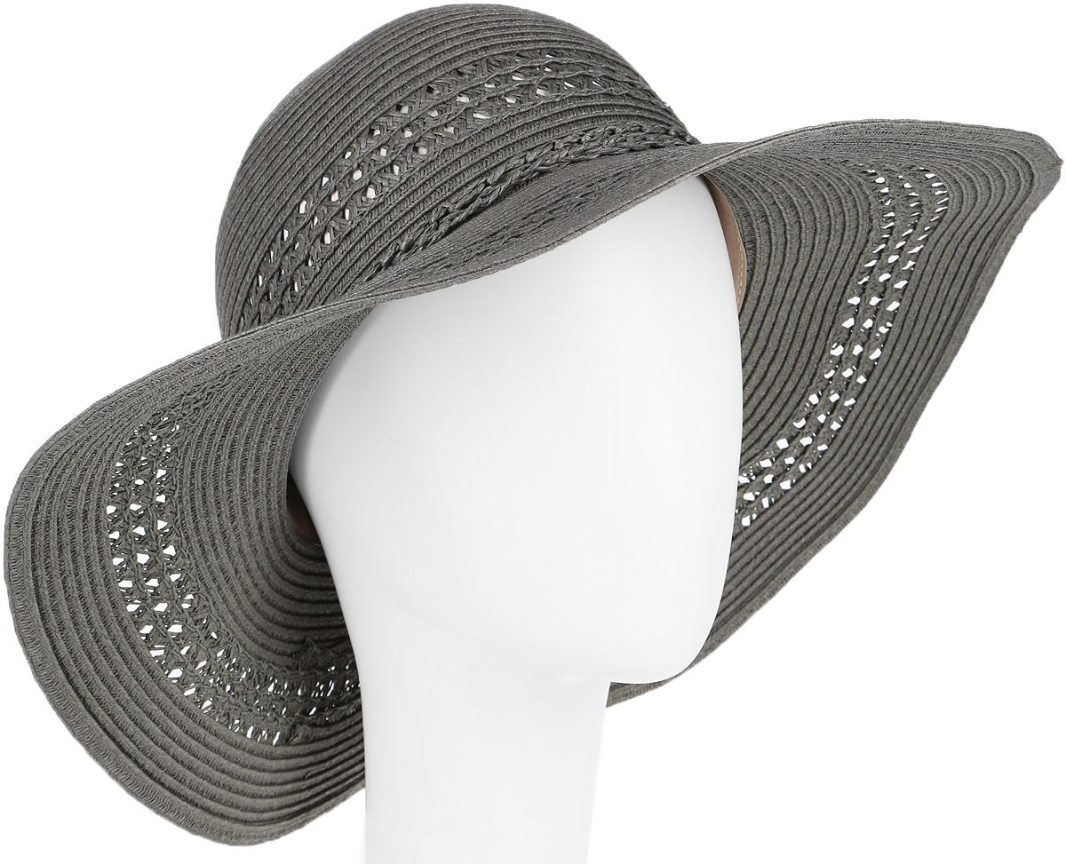 Шляпа женская R.Mountain Clara, цвет: темно-серый. 77-099-08-55. Размер S (55)77-099-08-55Широкополая шляпа R.Mountain Clara с оригинальным узором с перфорацией на тулье и полях, украсит любой наряд.Модель оформлена небольшим металлическим логотипом фирмы и плетеным шнуром, завязанным в бантом. Благодаря своей форме, шляпа удобно садится по голове и подойдет к любому стилю. Изделие легко восстанавливает свою форму после сжатия.Такая шляпка подчеркнет вашу неповторимость и дополнит ваш повседневный образ.