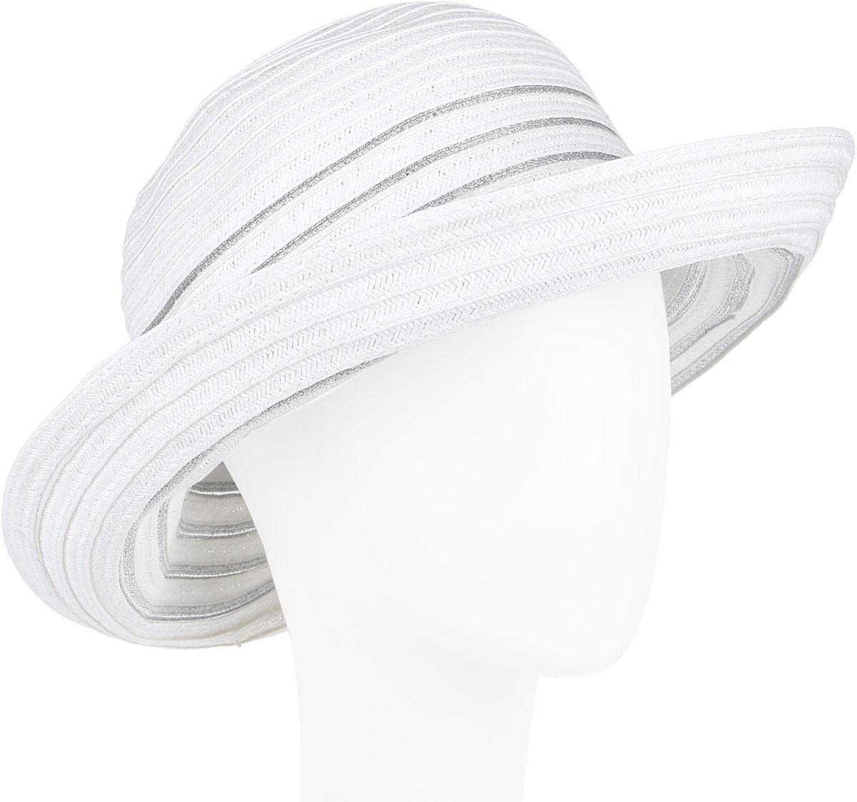 Шляпа женская Fabretti, цвет: белый. G27-4. Размер универсальныйG27-4 WHITEСтильная шляпа от Fabretti для пляжного отдыха и прогулок в солнечные дни.