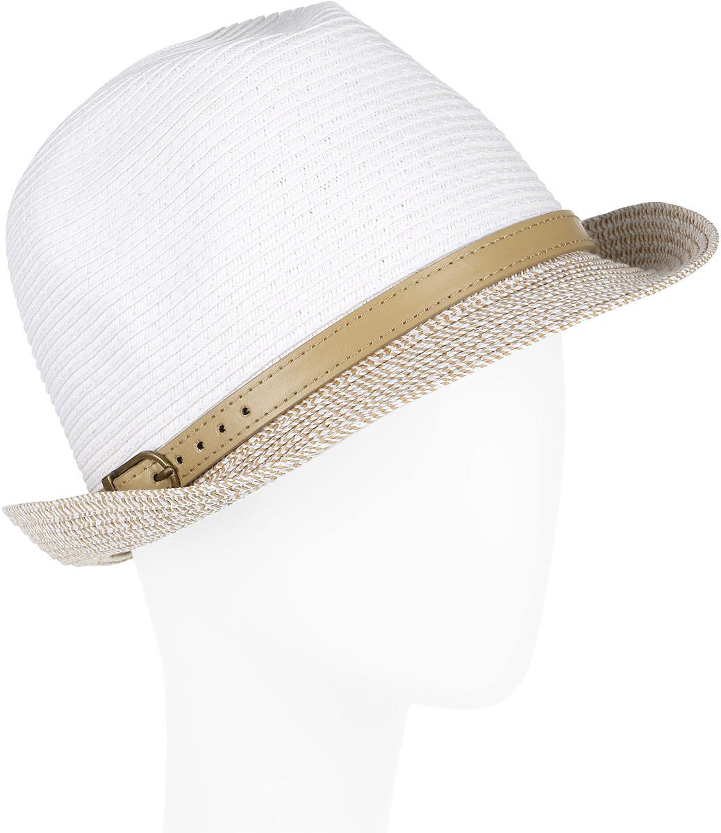 Шляпа женская Fabretti, цвет: белый. GL46-4. Размер универсальныйGL46-4 WHITEСтильная шляпа от Fabretti для пляжного отдыха и прогулок в солнечные дни.