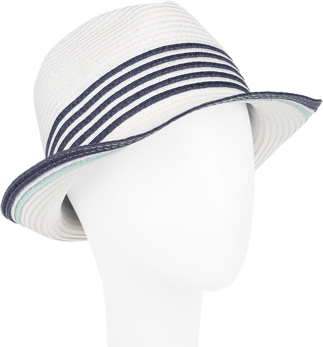 Шляпа женская Fabretti, цвет: белый. GL29-4. Размер универсальныйGL29-4 WHITEСтильная шляпа от Fabretti для пляжного отдыха и прогулок в солнечные дни.