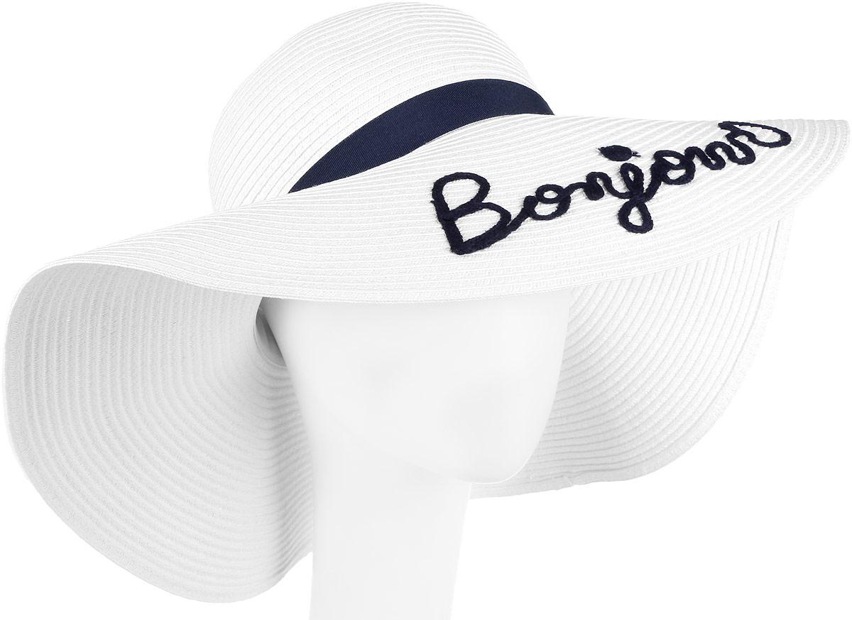 Шляпа женская Fabretti, цвет: белый. GL44-4. Размер универсальныйGL44-4 WHITEСтильная шляпа от Fabretti для пляжного отдыха и прогулок в солнечные дни.