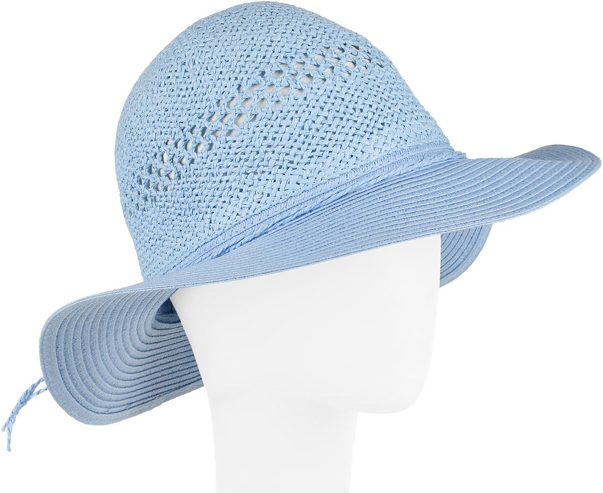 Шляпа женская Fabretti, цвет: голубой. GL42-5. Размер универсальныйGL42-5 BLUEСтильная шляпа от Fabretti для пляжного отдыха и прогулок в солнечные дни.