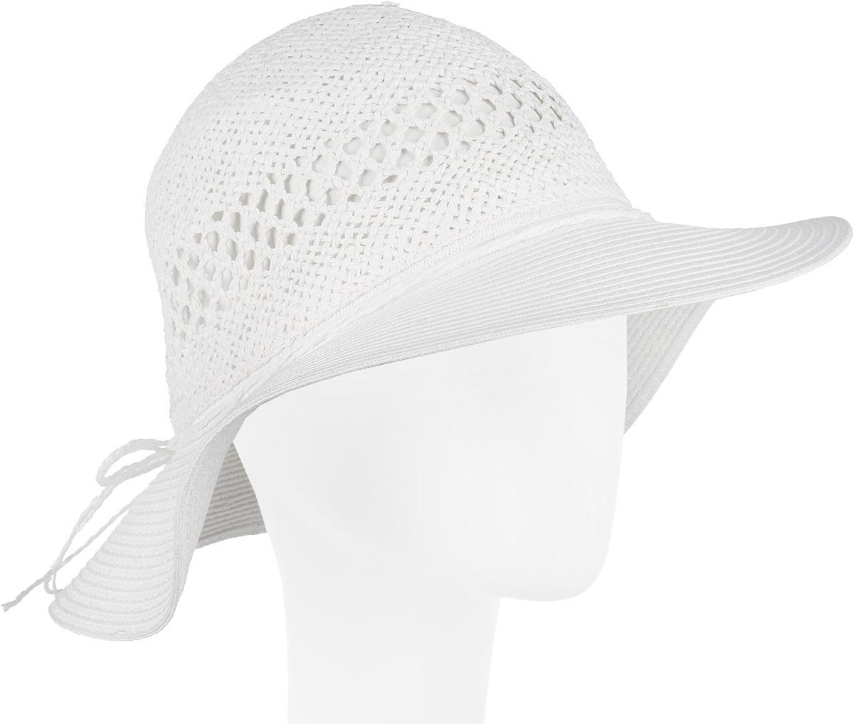 Шляпа женская Fabretti, цвет: белый. GL42-4. Размер универсальныйGL42-4 WHITEСтильная шляпа от Fabretti для пляжного отдыха и прогулок в солнечные дни.
