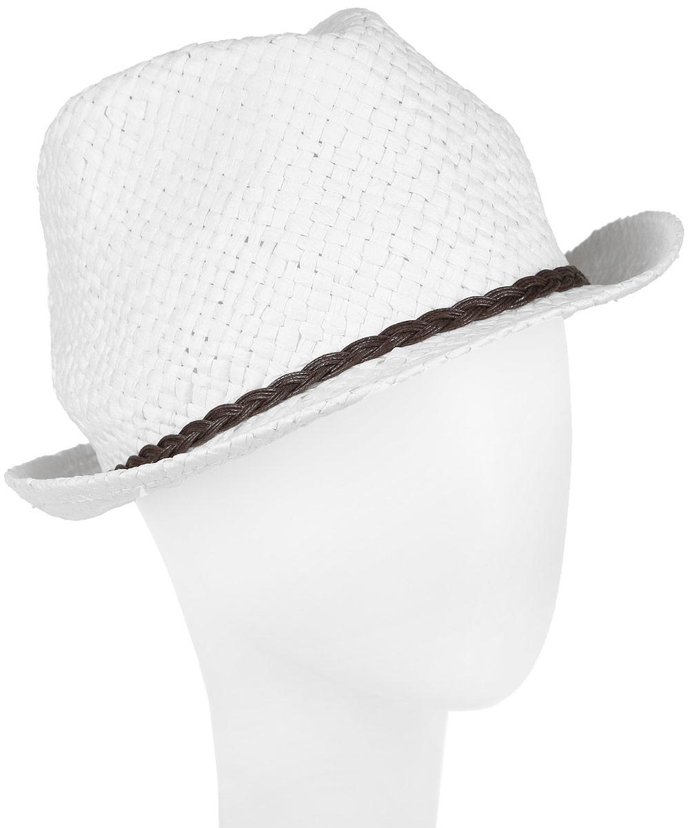 Шляпа женская Canoe Togo, цвет: белый. 1963760. Размер 561963760Стильная летняя шляпа Canoe Togo, выполненная из искусственной соломы, станет незаменимым аксессуаром для пляжа и отдыха на природе, и обеспечит надежную защиту головы от солнца. Шляпа оформлена декоративным плетеным ремешком. Плетение шляпы обеспечивает необходимую вентиляцию и комфорт даже в самый знойный день. Шляпа легко восстанавливает свою форму после сжатия.Такая шляпа подчеркнет вашу неповторимость и дополнит ваш повседневный образ.