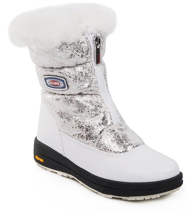 Дутики для девочки Olang, цвет: белый. LORY KID TWIST 825. Размер 29LORY KID TWIST 825Стильные дутики Olang придутся по вкусу вашему ребенку. Верхняя часть ботинок выполнена из уплотненного текстиля. Фиксируются с помощью молниевой застежки. Подошва обуви изготовлена из термопластиковой резины, которая по многим параметрам обыгрывает обычную резину. Это экологически чистый материал, он выдерживает очень низкие температуры. У него очень хорошая эластичность, низкая истираемость и высокая носкость. Внутренний слой обуви и стельки производятся из шерсти. Рифленая подошва из такой резины обладает плохим скольжением, что обеспечивает хорошую защиту ребенка во время гололедицы.