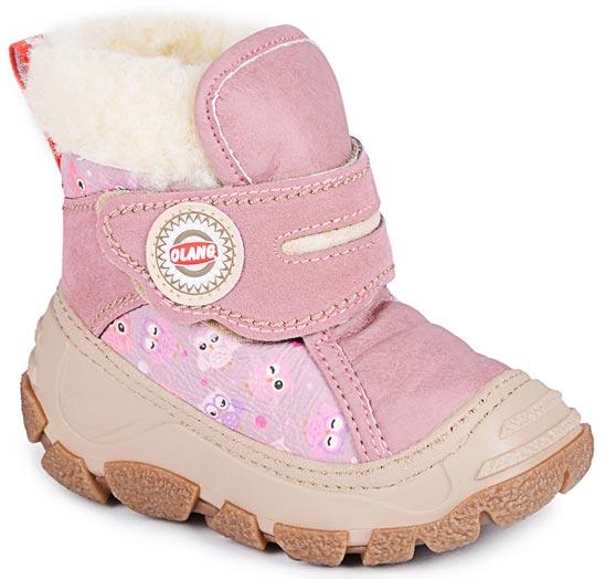 Дутики для девочки Olang, цвет: розовый. Cucciolo 840. Размер 23/24Cucciolo 840Стильные дутики Olang придутся по вкусу вашему ребенку. Удобные зимние сапоги разработаны специально для детей. В холода они обеспечат детским ножкам комфорт и тепло. Модель выполнена из экокожи (материал верха: 80% искусственная кожа, 20% эко-замша), имеет усиленный носок и задник, меховую подкладку, застежку-липучку. Подошва с рифлением обеспечит отличное сцепление с любыми поверхностями. Удобные дутики - необходимая вещь в гардеробе вашего ребенка.