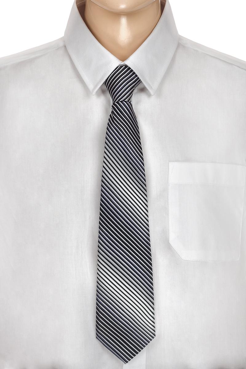 Галстук для мальчика Brostem, цвет: серый, черный, белый. CCAL2001-20. Размер универсальныйCCAL2001-20Модный галстук для мальчика Brostem изготовлен из полиэстера. Обхват шеи регулируется с помощью пластикового фиксатора. Галстук оформлен оригинальным принтом.