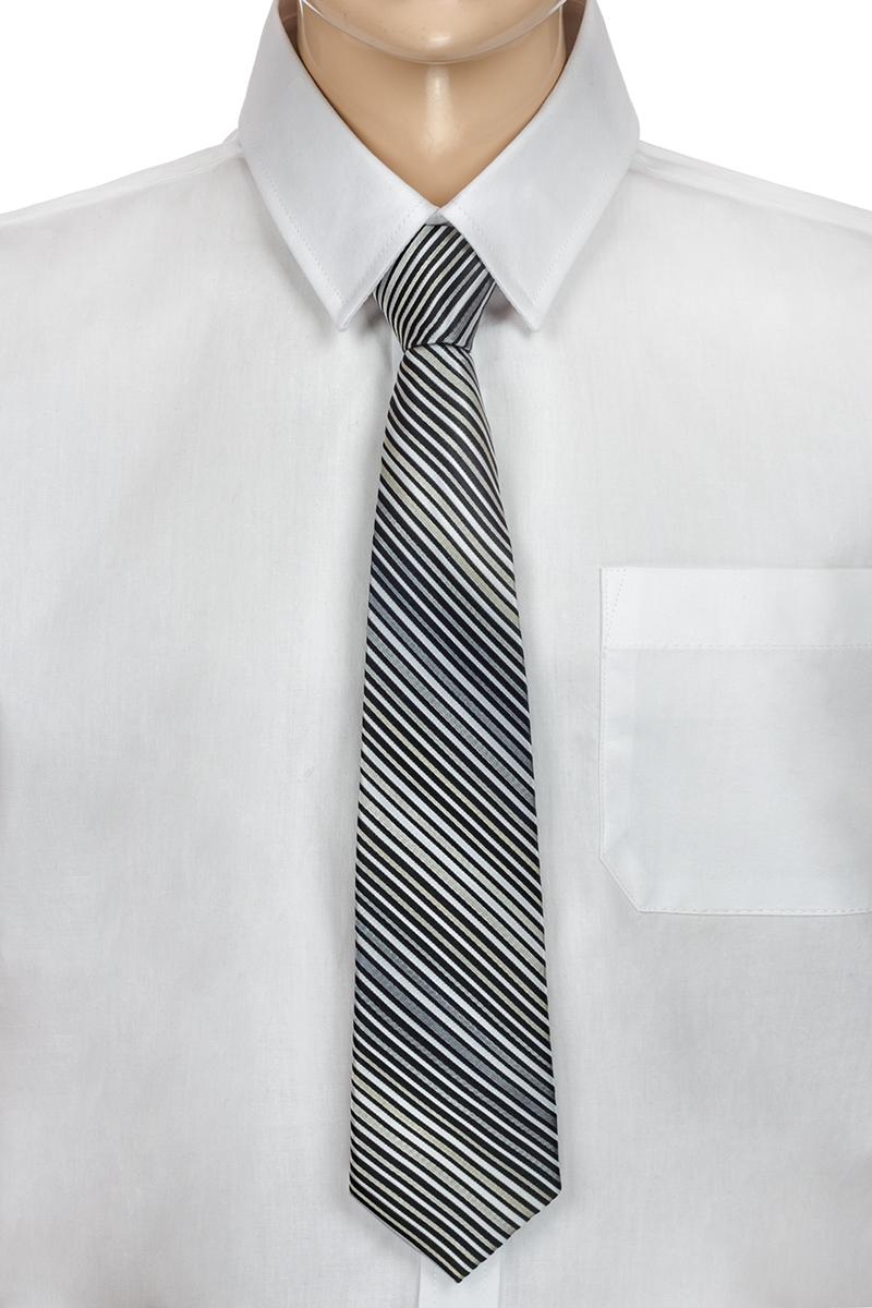 Галстук для мальчика Brostem, цвет: серый, черный, белый. CCAL2003-20. Размер универсальныйCCAL2003-20Модный галстук для мальчика Brostem изготовлен из полиэстера. Обхват шеи регулируется с помощью пластикового фиксатора. Галстук оформлен оригинальным принтом.