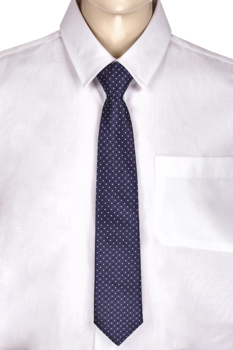 Галстук для мальчика Brostem, цвет: темно-синий, белый, черный. RKCAL2905-29. Размер универсальныйRKCAL2905-29Модный галстук для мальчика Brostem изготовлен из полиэстера. Обхват шеи регулируется с помощью пластикового фиксатора. Галстук оформлен оригинальным принтом.