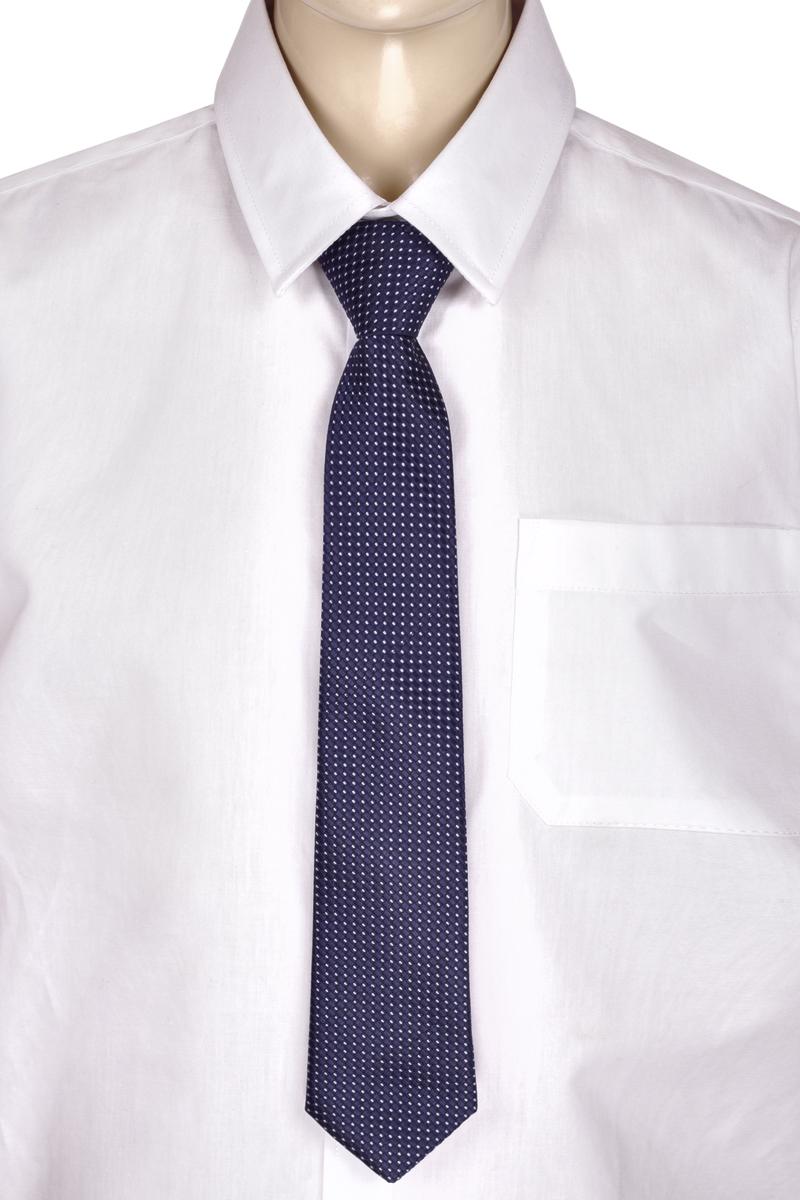Галстук для мальчика Brostem, цвет: темно-синий, белый. RKCAL2904-29. Размер универсальныйRKCAL2904-29Модный галстук для мальчика Brostem изготовлен из полиэстера. Обхват шеи регулируется с помощью пластикового фиксатора. Галстук оформлен оригинальным принтом.
