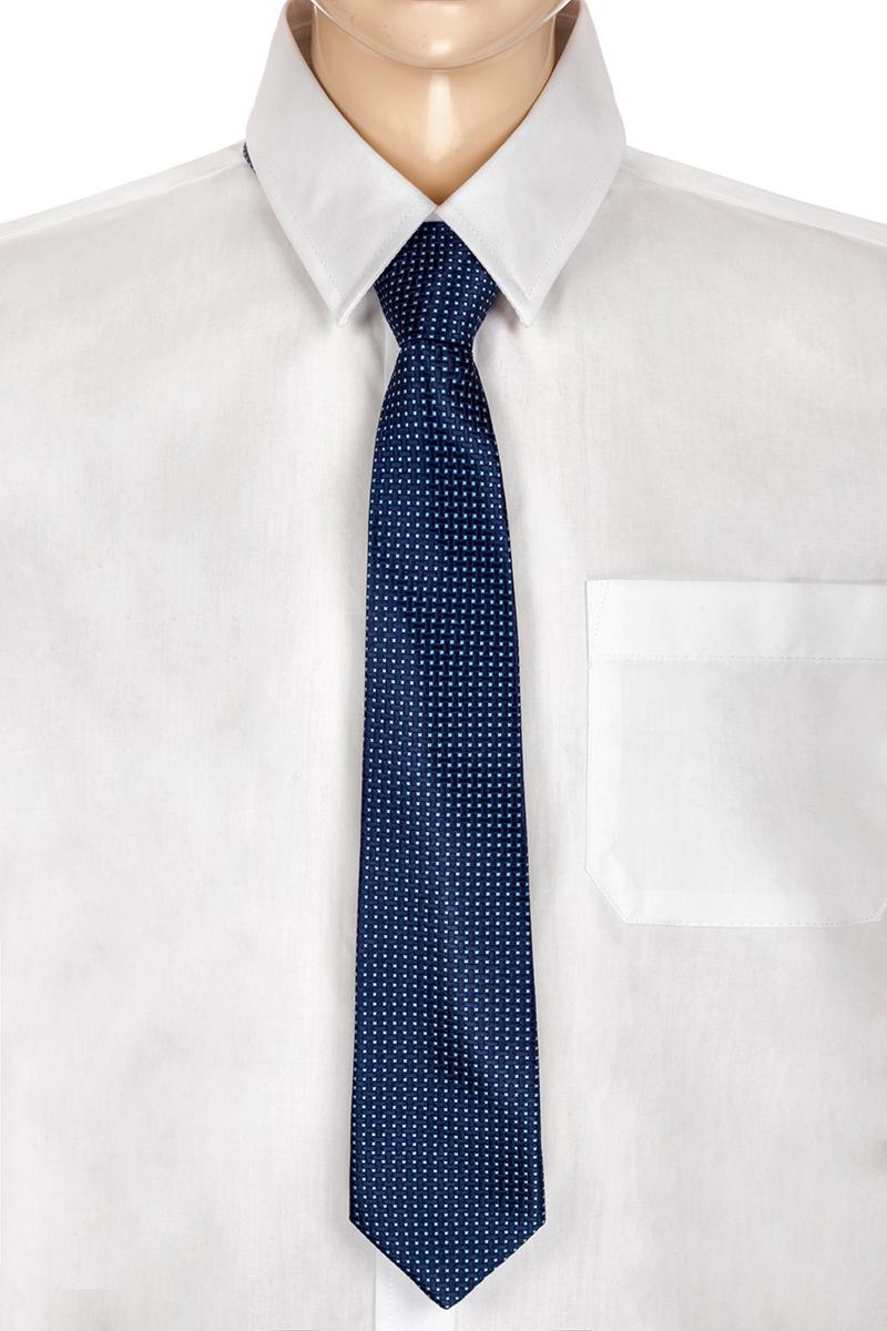 Галстук для мальчика Brostem, цвет: темно-синий, голубой. RKCAL2901-29. Размер универсальныйRKCAL2901-29Модный галстук для мальчика Brostem изготовлен из полиэстера. Обхват шеи регулируется с помощью пластикового фиксатора. Галстук оформлен оригинальным принтом.