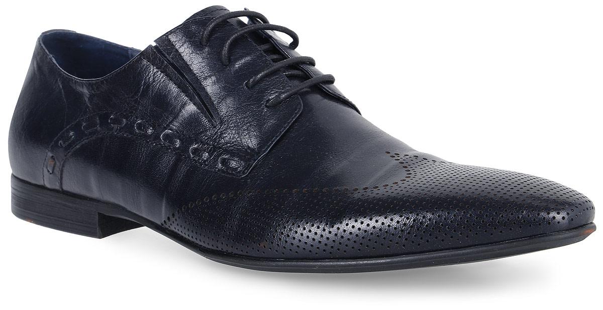 Туфли мужские Genalli, цвет: темно-синий. 2158-20-A803. Размер 422158-20-A803Классические мужские туфли Genalli на шнуровке выполнены из натуральной кожи и дополнены перфорацией. Внутренняя поверхность и стелька из кожи создают комфорт при движении. Подошва выполнена из полимерного термопластичного материала. Модель имеет небольшой квадратный каблук.