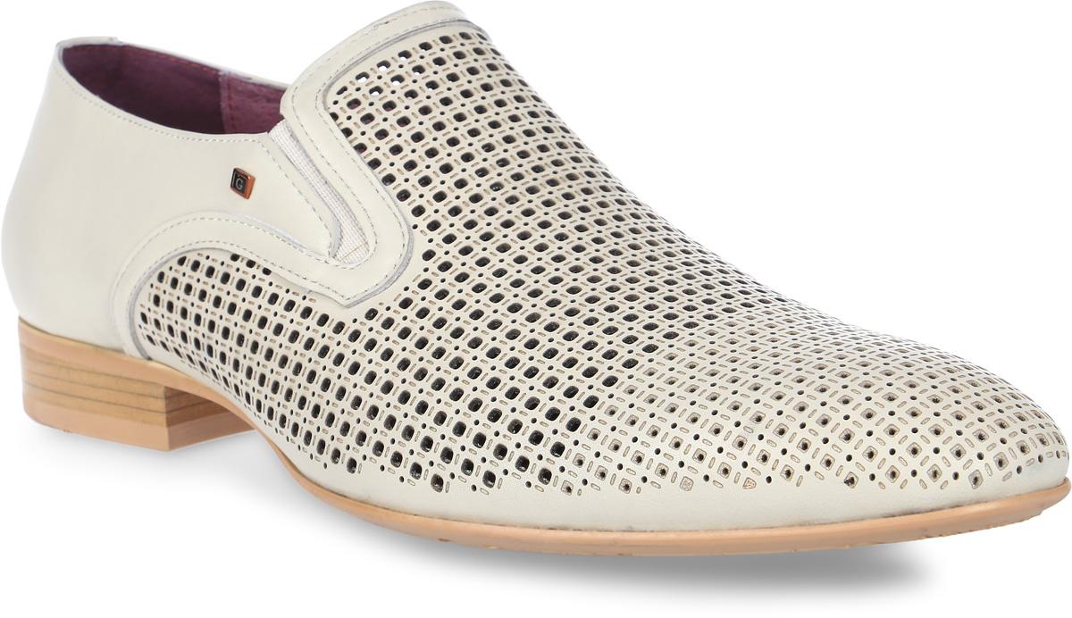 Туфли мужские Genalli, цвет: светло-бежевый. BA205810-J. Размер 45BA205810-JКлассические мужские туфли Genalli с квадратным каблуком выполнены из натуральной кожи и дополнены перфорацией. Внутренняя поверхность и стелька из кожи создают комфорт при движении. Рельефная подошва из полимерного термопластичного материала гарантирует хорошую амортизацию и сцепление с любой поверхностью. Фиксация на стопе обеспечивается за счет удобных эластичных вставок.
