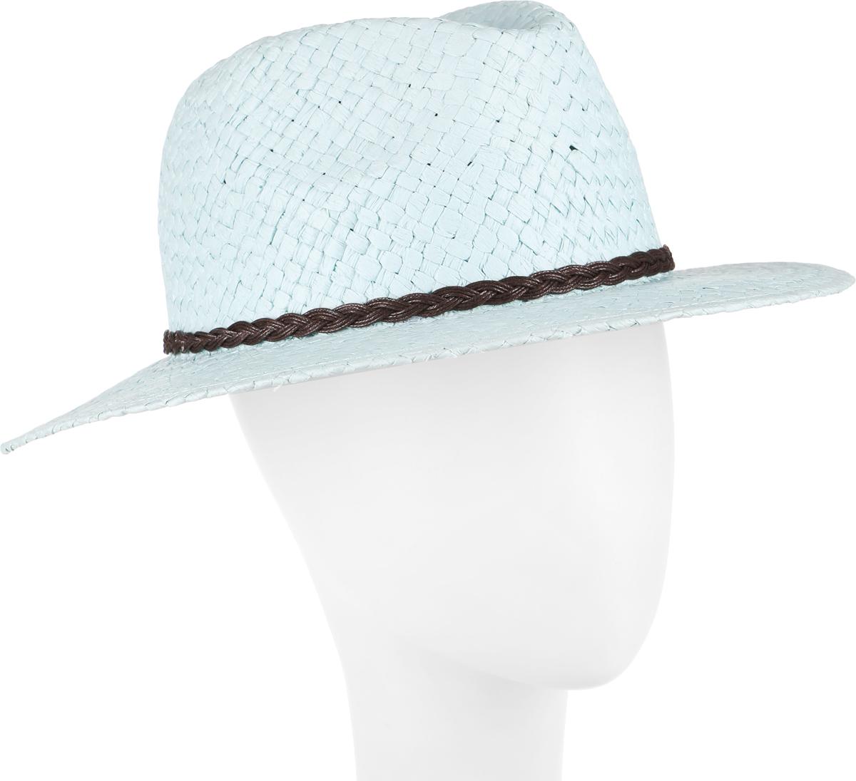 Шляпа женская Canoe Janet, цвет: бирюзовый. 1964195. Размер 561964195Широкополая классическая шляпа Canoe Janet, выполненная из искусственной соломы, украсит любой наряд и обеспечит надежную защиту головы от солнца. Крупное плетение шляпы обеспечивает необходимую вентиляцию и комфорт даже в самый знойный день. Изделие легко восстанавливает свою форму после сжатия. Оформлена модель декоративной плетеной косичкой.Легкая и комфортная шляпка подчеркнет вашу неповторимость и дополнит ваш повседневный образ.