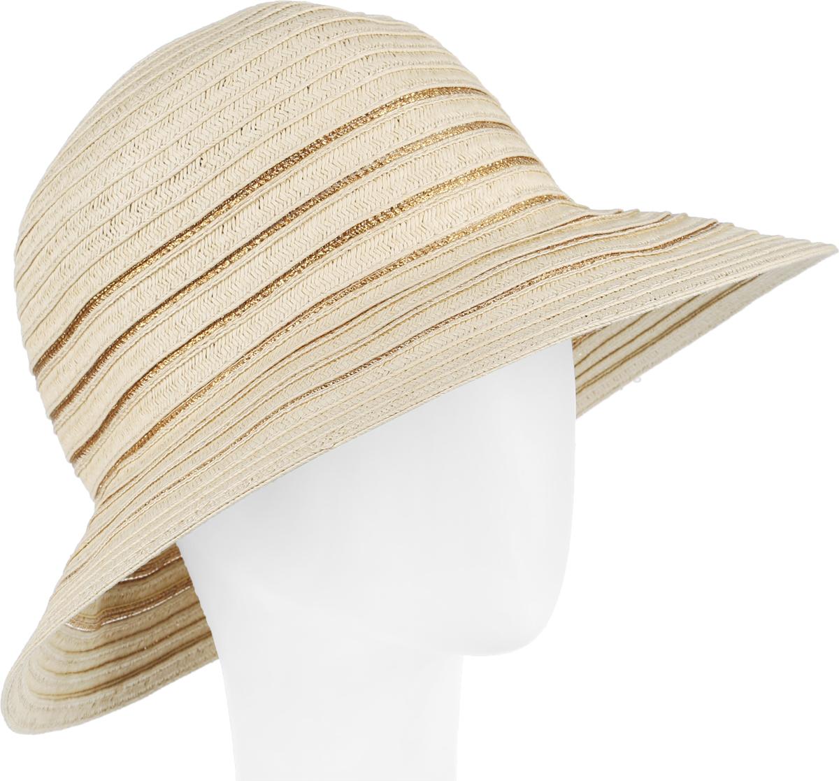 Шляпа женская Fabretti, цвет: бежевый. G27-3. Размер универсальныйG27-3 BEIGEСтильная шляпа от Fabretti для пляжного отдыха и прогулок в солнечные дни.