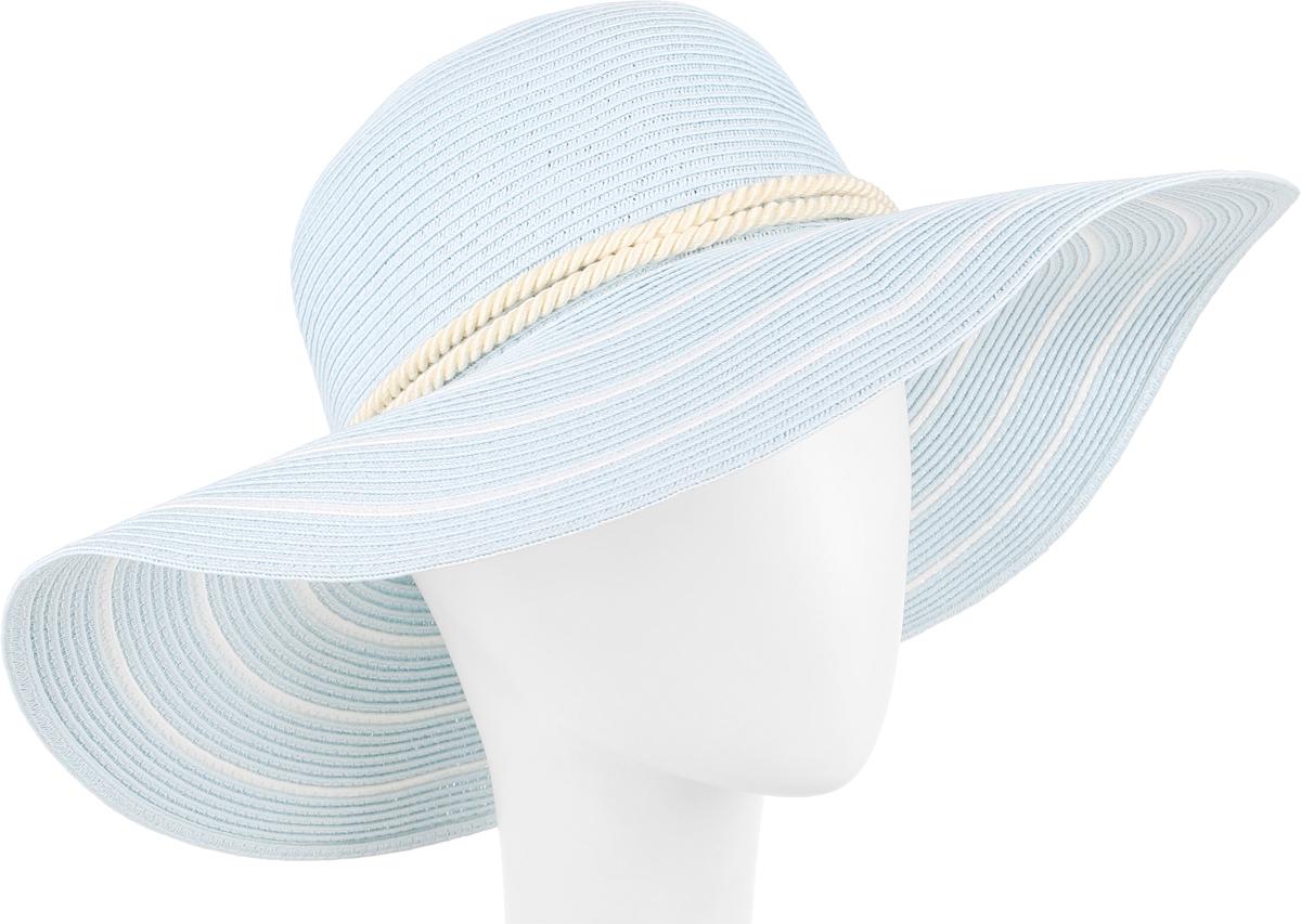 Шляпа женская Fabretti, цвет: голубой. G28-5. Размер универсальныйG28-5 LIGHT BLUEСтильная шляпа от Fabretti для пляжного отдыха и прогулок в солнечные дни.