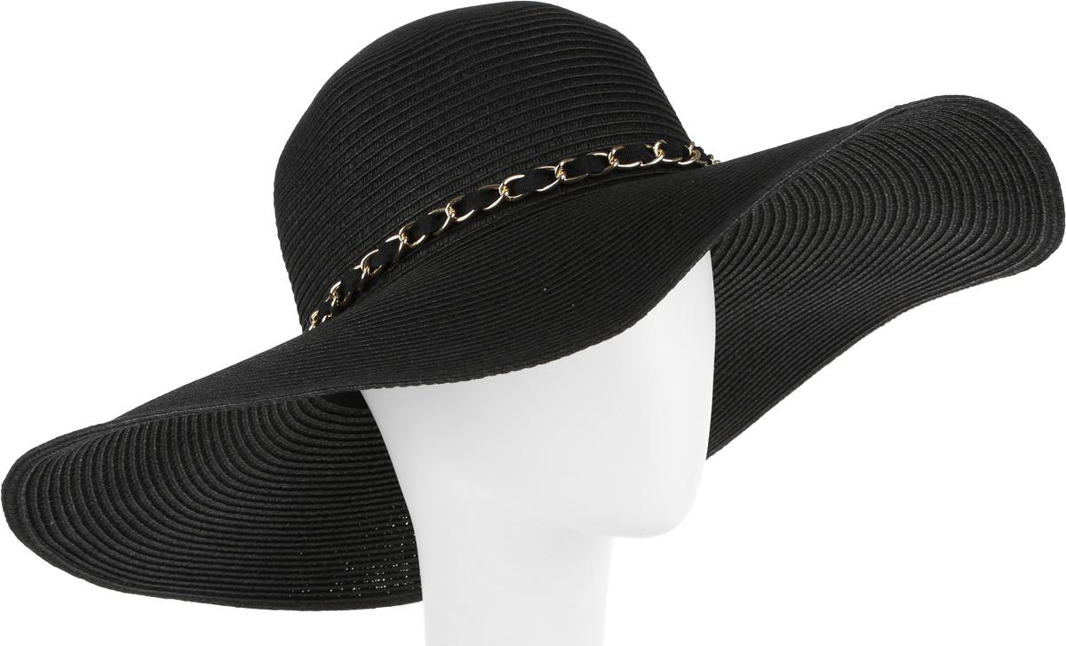 Шляпа женская Fabretti, цвет: черный. G3-2. Размер универсальныйG3-2 BLACKСтильная шляпа от Fabretti для пляжного отдыха и прогулок в солнечные дни.