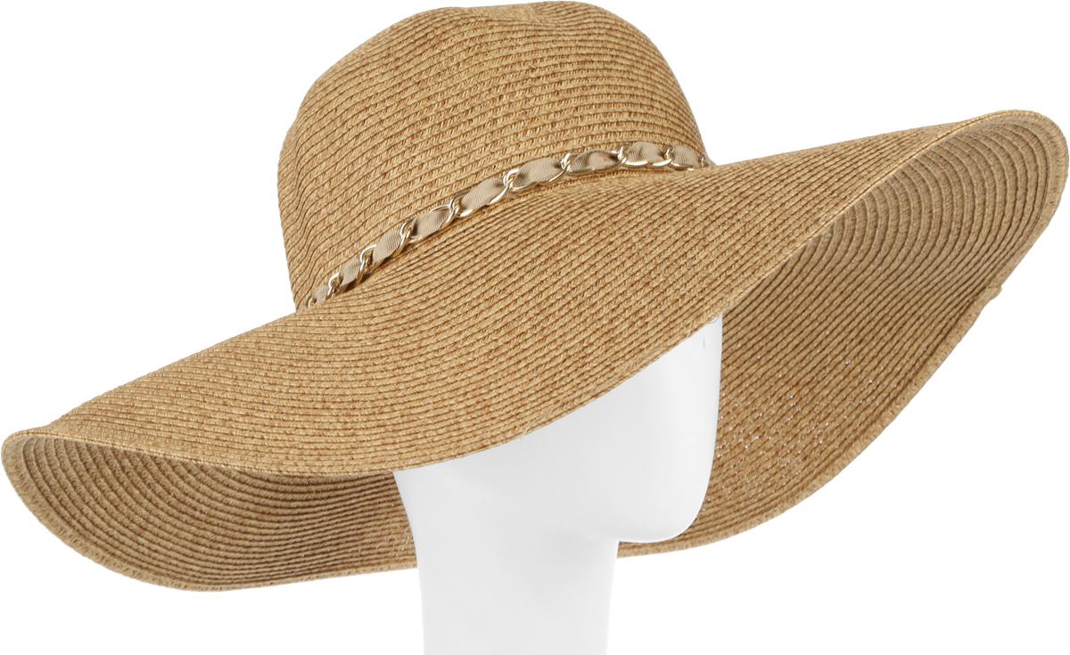 Шляпа женская Fabretti, цвет: бежевый. G3-1. Размер универсальныйG3-1 BEIGEСтильная шляпа от Fabretti для пляжного отдыха и прогулок в солнечные дни.