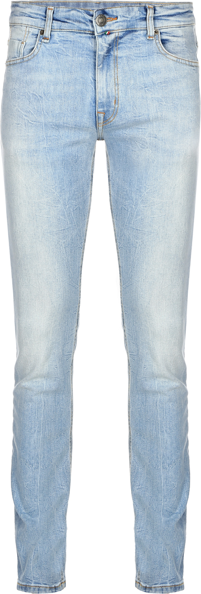 Джинсы мужские F5, цвет: голубой. 14436_09348. Размер 36-32 (50/52-32)14436_09348, Blue denim V-008 str., w.lightСтильные мужские джинсы F5 выполнены из хлопка с небольшим добавлением эластана. Застегиваются джинсы на пуговицу в поясе и ширинку на застежке-молнии, имеются шлевки для ремня. Спереди модель дополнена двумя втачными карманами и одним небольшим секретным кармашком, а сзади - двумя накладными карманами. Джинсы украшены потертостями.