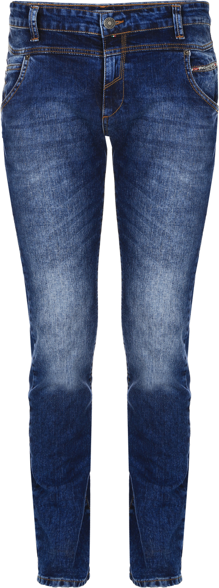 Джинсы мужские F5, цвет: синий. 14451_09343. Размер 30-34 (46-34)14451_09343, Blue denim 3043 str., w.mediumМужские джинсы F5 выполнены из хлопка с небольшим добавлением эластана. Модель на поясе застегивается на металлическую пуговицу и имеет ширинку на молнии, а также шлевки для ремня. Спереди расположены два втачных кармана со скошенными краями и один накладной кармашек, а сзади - два накладных кармана. Изделие оформлено контрастной прострочкой и украшено небольшой нашивкой с названием бренда.
