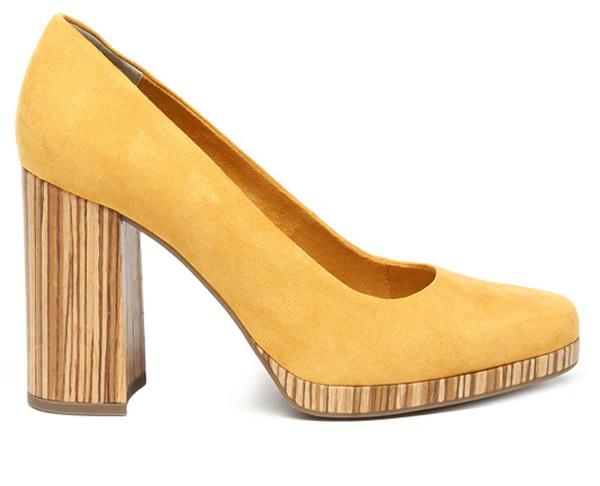 Туфли женские Marco Tozzi, цвет: желтый. 2-2-22431-28-602/220. Размер 392-2-22431-28-602/220Изысканные женские туфли от Marco Tozzi поразят вас своим дизайном! Модель выполнена из текстиля. Подкладка из текстиля стелька из натуральной кожи позволят ногам дышать и обеспечат максимальный комфорт при ходьбе. Закругленный носок добавит женственности в ваш образ. Высокий толстый каблук устойчив при ходьбе. Подошва с рифлением обеспечивает отличное сцепление с поверхностью. Модные туфли подчеркнут вашу яркую индивидуальность, позволят выделиться среди окружающих.