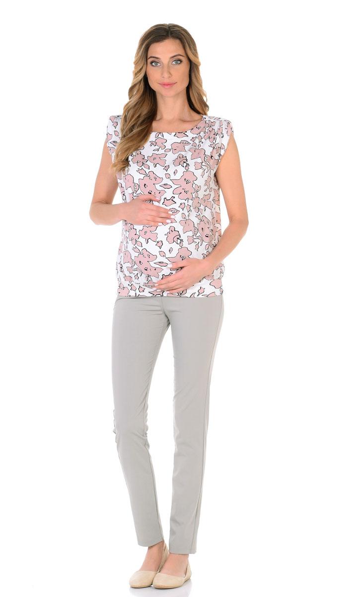 Блузка для беременнных и кормящих Nuova Vita, цвет: белый, бежевый. 1335.5. Размер 441335.5Летняя блуза для беременных и кормящих мам, выполненная из вискозы, притягивает взгляд своей простотой.Модель из нежнейшей, не мнущейся ткани отличается оригинальной расцветкой и изысканным кроем: немного спущенная пройма, с подтягивающим его вертикальным клапаном, вырез горловины лодочка. Блузка отлично смотрится как с юбкой, так и с любыми брюками, шортами и лосинами. Жизнерадостный и ненавязчивый принт. Красивый базовый элемент гардероба, с которым вы не захотите расставаться.