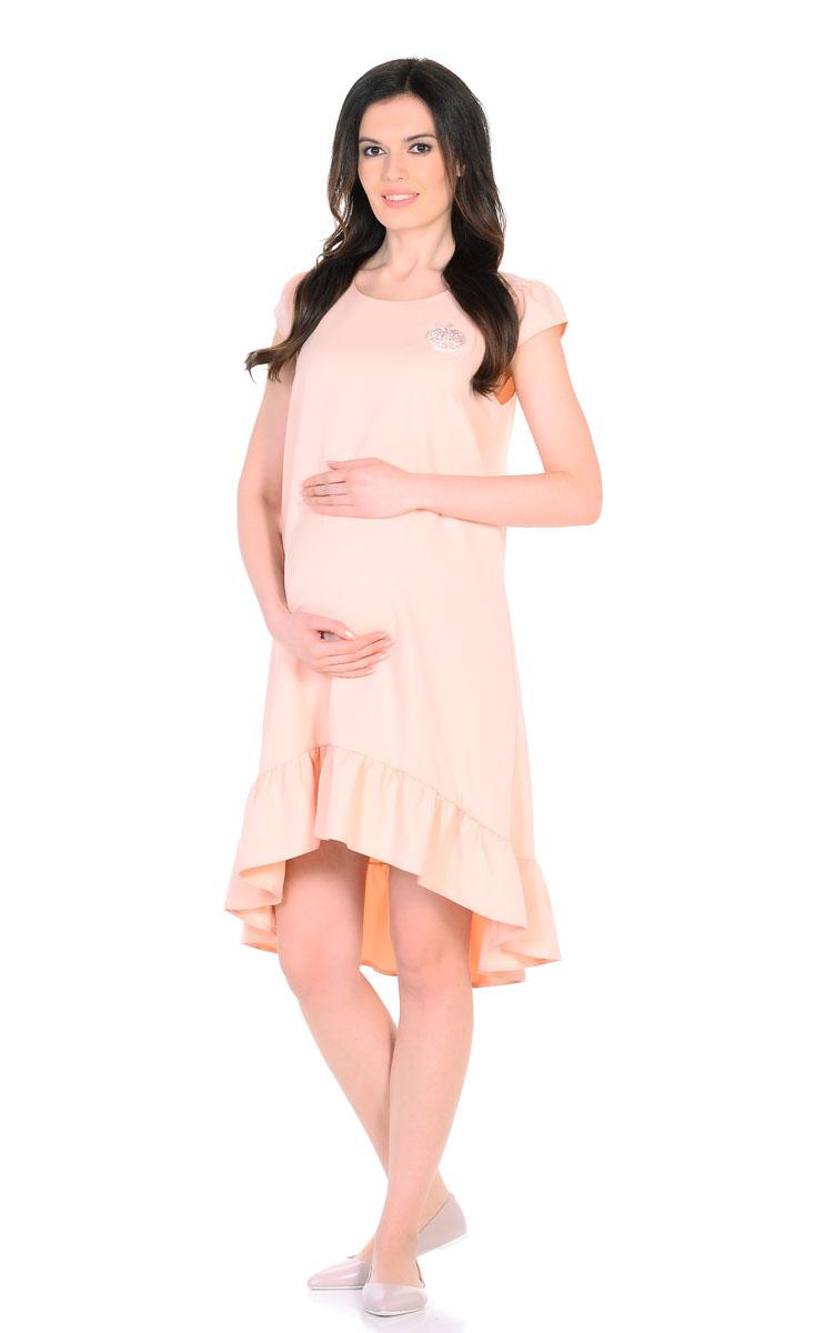 Платье для беременнных и кормящих Nuova Vita, цвет: бежевый. 2158.02. Размер 442158.02Красивое летнее платье для беременных поможет будущей маме подчеркнуть всю привлекательность этого волшебного периода, улучшит настроение и подарит массу приятных эмоций. Очаровательное и модное платье, с ассиметричным подолом, отрезным широким воланом по низу и рукавами-фонариками. Эта замечательная модель послужит вам как на любом сроке беременности, так и после рождения малыша, деликатно скрывая временные несовершенства фигуры. Ткань обладает приятной прохладой, в ней вам не будет жарко летом даже в самый знойный день. Платье отличается высоким качеством, в нем вы будете себя чувствовать максимально комфортно. Также к платью прилагаетсяброшь-яблоко из разноцветных страз.