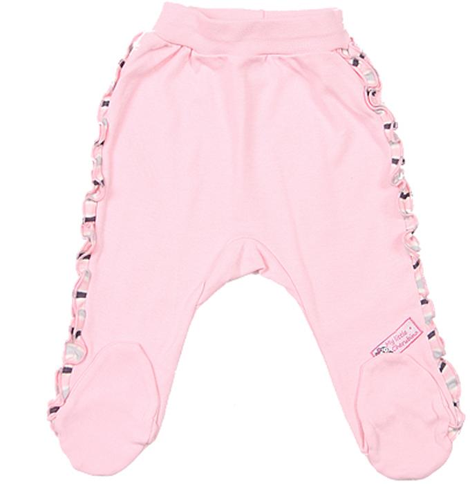 Ползунки для девочки Cherubino, цвет: светло-розовый. CAN 7378. Размер 80CAN 7378Ползунки для девочки Cherubino изготовлены из мягкого хлопка. Модель на широкой мягкой резинке по бокам украшена рюшами из полосатого трикотажа.
