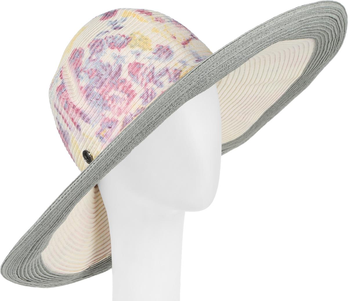 Шляпа женская R.Mountain Lisbeth, цвет: хаки, мультиколор. 77-125-11-57. Размер M (57)77-125-11-57Широкополая шляпа R.Mountain Lisbeth украсит любой наряд.Модель оформлена оригинальным цветочным принтом и металлической нашивкой с логотипом бренда. Благодаря своей форме, шляпа удобно садится по голове и подойдет к любому стилю. Изделие легко восстанавливает свою форму после сжатия.Такая шляпка подчеркнет вашу неповторимость и дополнит ваш повседневный образ.