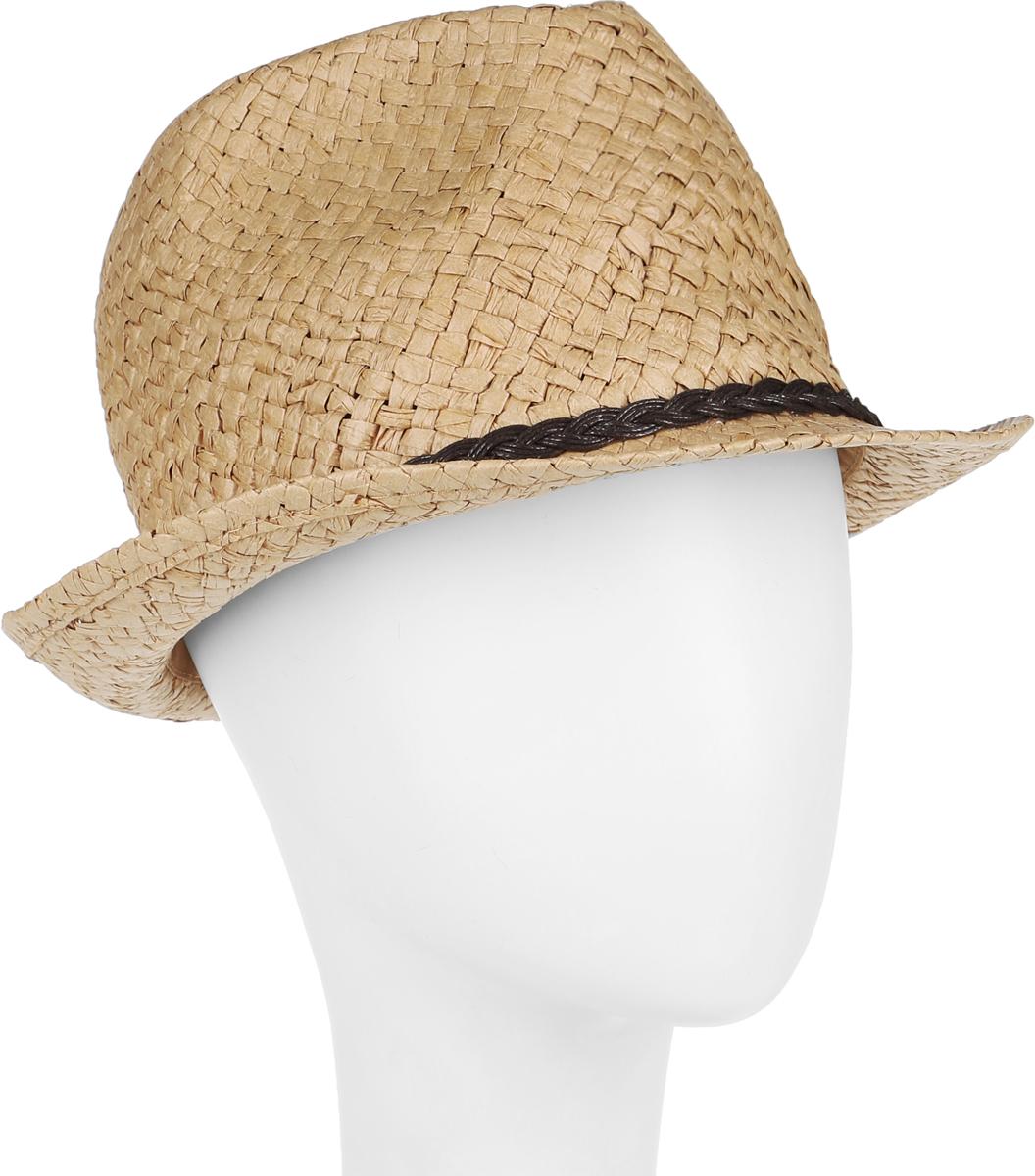 Шляпа женская Canoe Togo, цвет: песочный. 1964319. Размер 561964319Стильная летняя шляпа Canoe Togo, выполненная из искусственной соломы, станет незаменимым аксессуаром для пляжа и отдыха на природе, и обеспечит надежную защиту головы от солнца. Шляпа оформлена декоративным плетеным ремешком. Плетение шляпы обеспечивает необходимую вентиляцию и комфорт даже в самый знойный день. Шляпа легко восстанавливает свою форму после сжатия.Такая шляпа подчеркнет вашу неповторимость и дополнит ваш повседневный образ.
