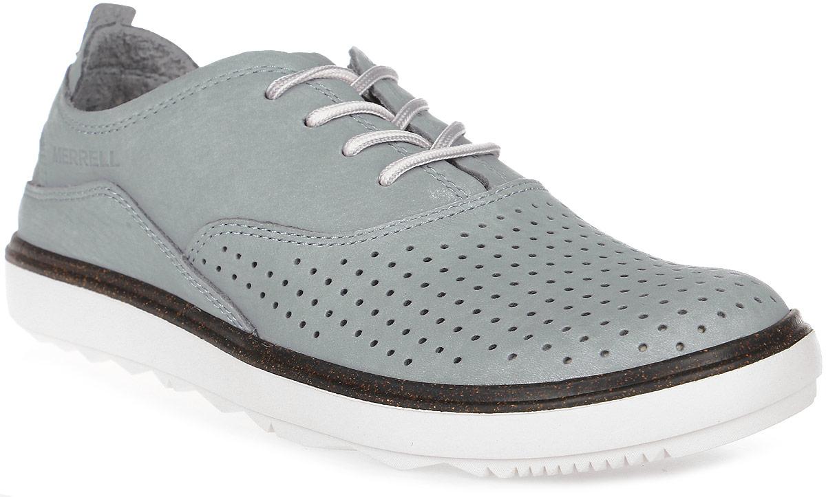 Полуботинки женские Merrell Around Town Lace Air, цвет: серый. J03692. Размер 8 (39)J03692Женские полуботинки от Merrell - отличный вариант на каждый день. Модель выполнена из натурального нубука и оформлена перфорацией, которая обеспечивает лучшую воздухопроницаемость. Подъем дополнен шнуровкой, надежно фиксирующей обувь на стопе. Технология стельки M Select Fresh естественным образом устраняет бактерии - причину возникновения неприятного запаха внутри ботинка.Специальный рисунок протектора, обеспечивающий отличное сцепление на разных видах поверхности, сконструирован таким образом, чтобы в его элементах не застревали мелкие камни, не удерживалась земля.